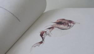 Detalle de una ilustración a acuarela en un libro