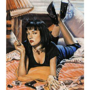 Pintura de Mia Wallace en acrílico sobre lienzo
